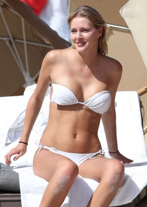 Deimante Guobyte White Bikini Photos: 2014 Miami -07