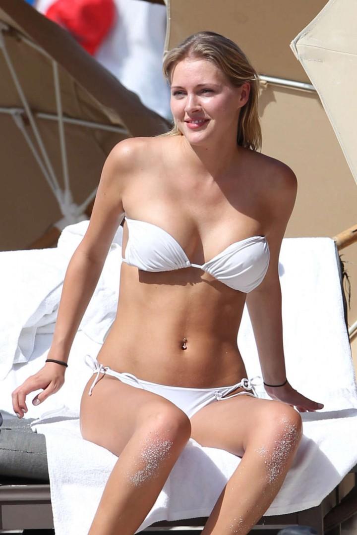 Deimante Guobyte – White Bikini Candids in Miami