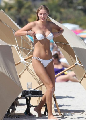 Deimante Guobyte White Bikini Photos: 2014 Miami -08