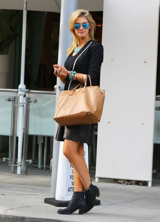 Delta Goodrem - Leggy Candids in Beverly Hills