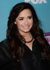 Demi Lovato in short skirt at X Factor -15