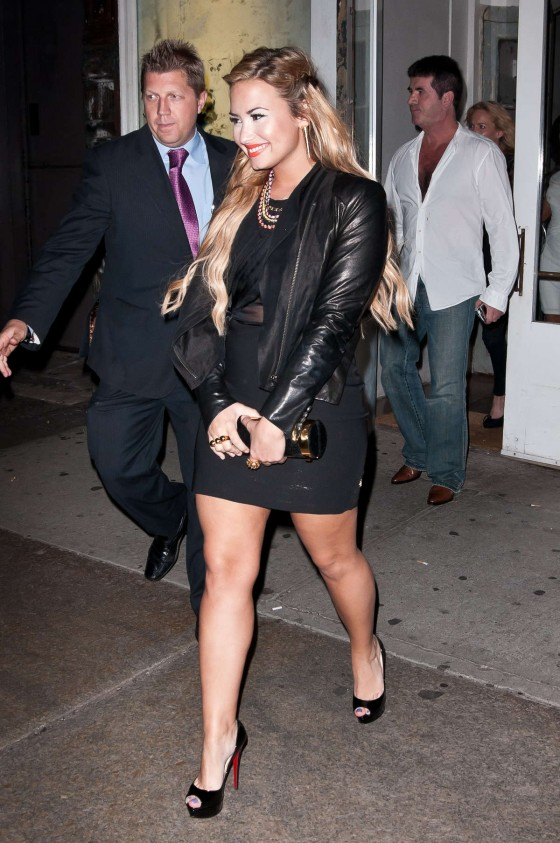 Demi Lovato Showing legs at at the Fox Upfronts 2012