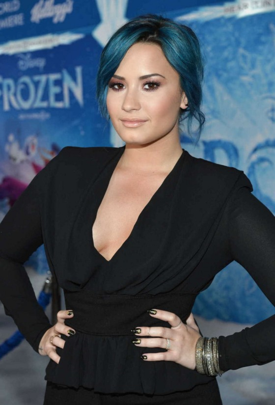 Demi Lovato: Frozen Hollywood Premiere -12