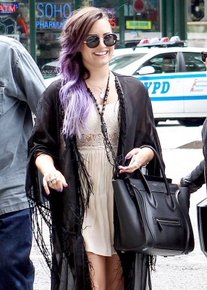 Demi Lovato: Leaving Z100 Studios -14