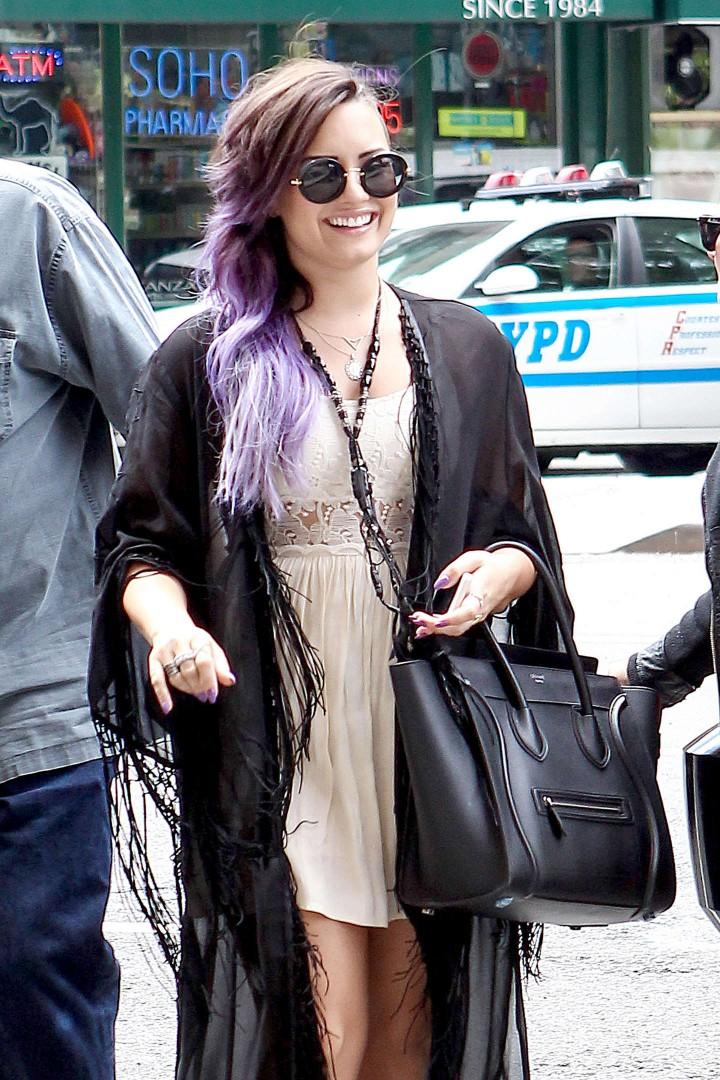 Demi Lovato – Leaving Z100 Studios in NYC