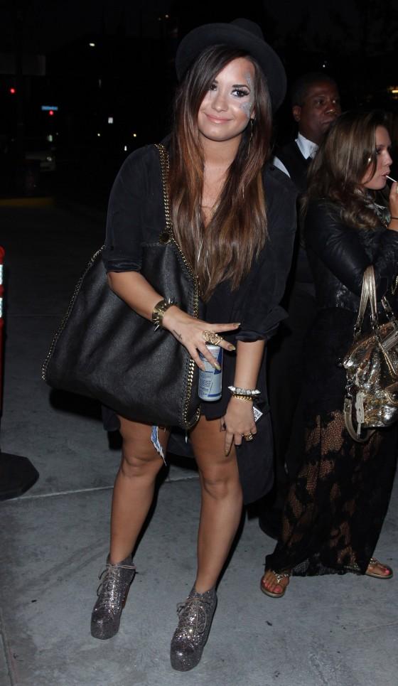 Demi Lovato – Leggy at the Katy Perry concert in LA