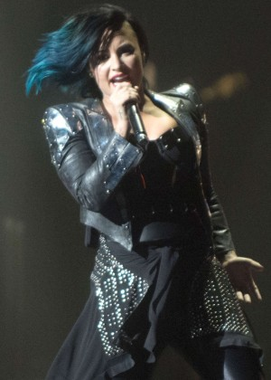 Demi Lovato - Perform Live at Neon Lights World Tour in Calgary