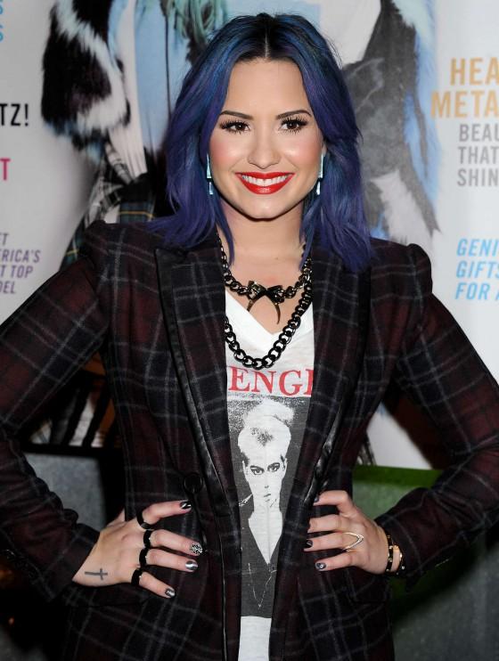Demi Lovato: NYLON Magazine Party -06