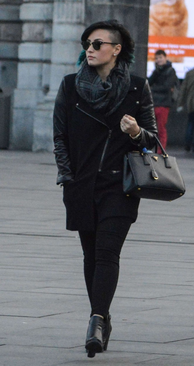Demi Lovato Out in Belgium