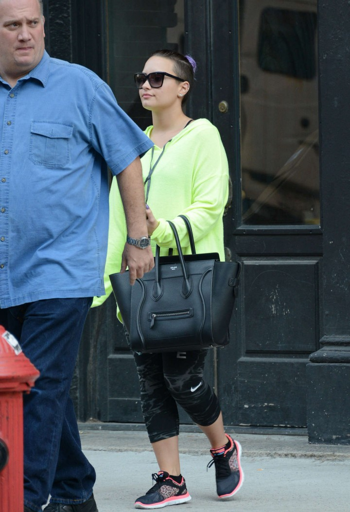 Demi Lovato out in New York