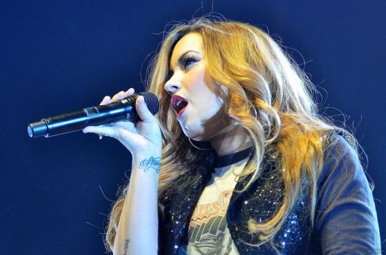 Demi Lovato � Performing at Movistar Arena in Santiago de Chile