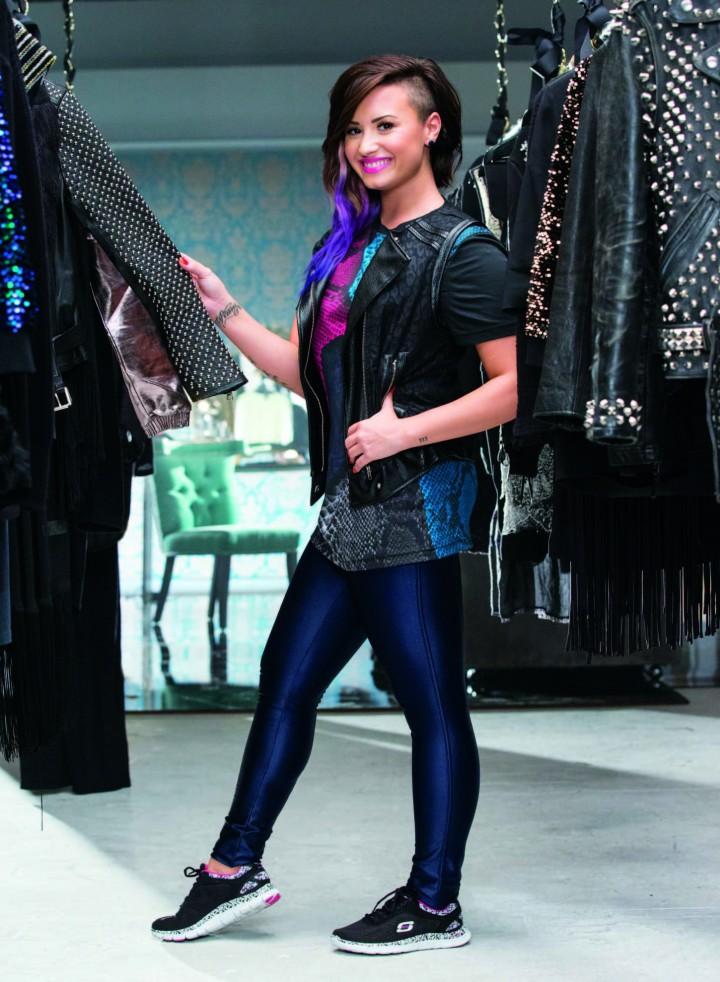 Demi Lovato: Skechers 2014 Holiday Campaign -01