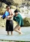 Demi Lovato in a Bikini at a Beach in Barbados -01