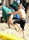 Demi Lovato in a Bikini at a Beach in Barbados -02