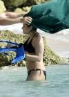 Demi Lovato in a Bikini at a Beach in Barbados -03