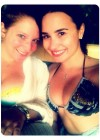 Demi Lovato - Wearing a bikini with her friends