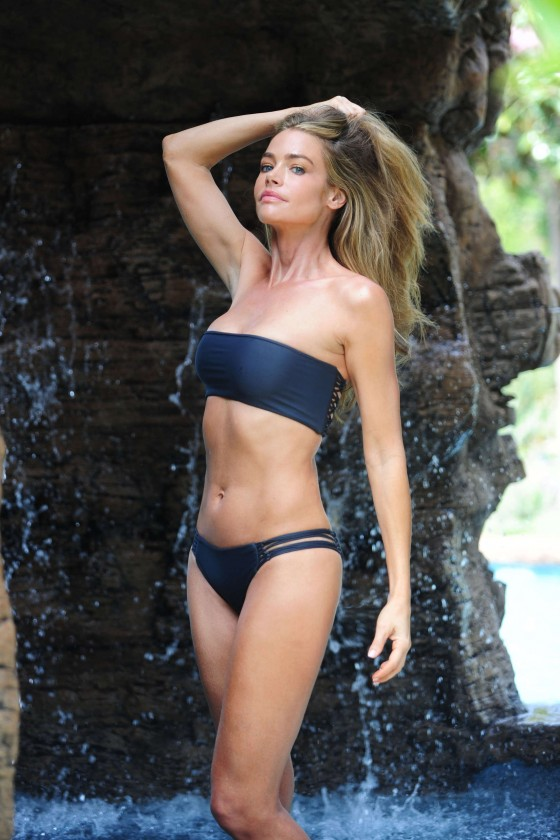Denise Richards - 2012 Bikini Poolside Photoshoot in Malibu