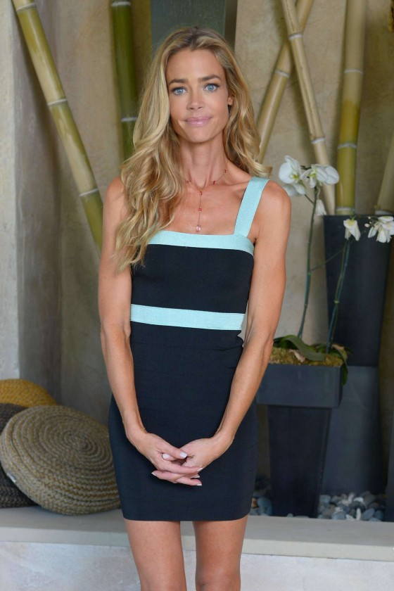 Denise Richards in a Kardashian Kollection dress in Beverly Hills