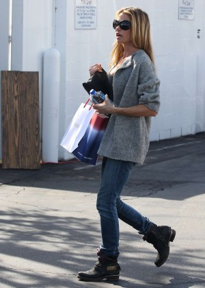 Denise Richards in Jeans Shopping at Fred Segal in West Hollywood