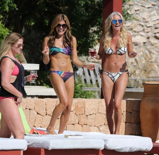 Denise Van Outen and Zoe Hardman - poolside candids in Ibiza -12