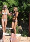 Denise Van Outen and Zoe Hardman - poolside candids in Ibiza -13