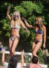 Denise Van Outen and Zoe Hardman - poolside candids in Ibiza -14