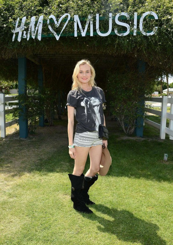 Diane Kruger at HM Loves Coachella Event 2013 -07