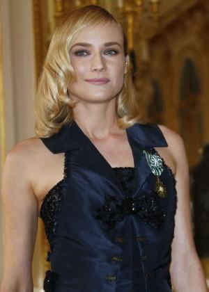 """Diane Kruger - Awarded """"Officier des Arts et Lettres"""" in Paris"""