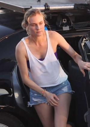 "Diane Kruger - Filming her new movie ""Maryland"" in Col d'Eze, France"
