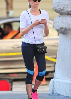 Diane Kruger in Tight Leggings Out in NYC