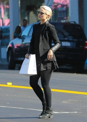 Dianna Agron in Mini Skirt at Marc Jacobs in Beverly Hills