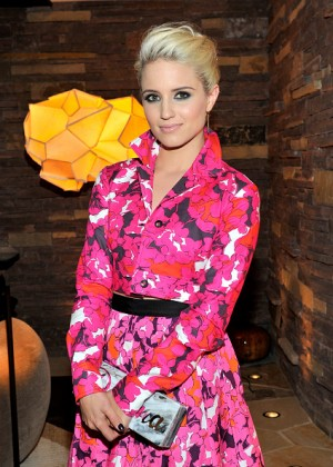 Dianna Agron attends the CFDA/Vogue Fashion Fund Evening Dinner in LA