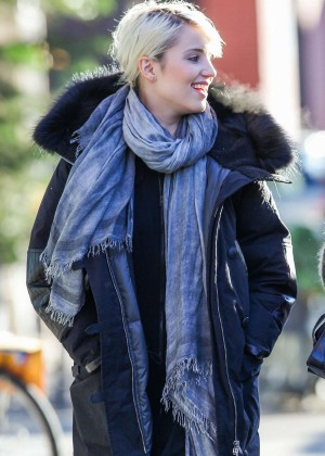 Dianna Agron - Out With a Friend in New York
