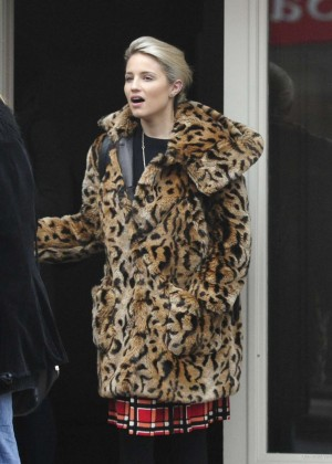 Dianna Agron outside the Electric House Cinema in West London