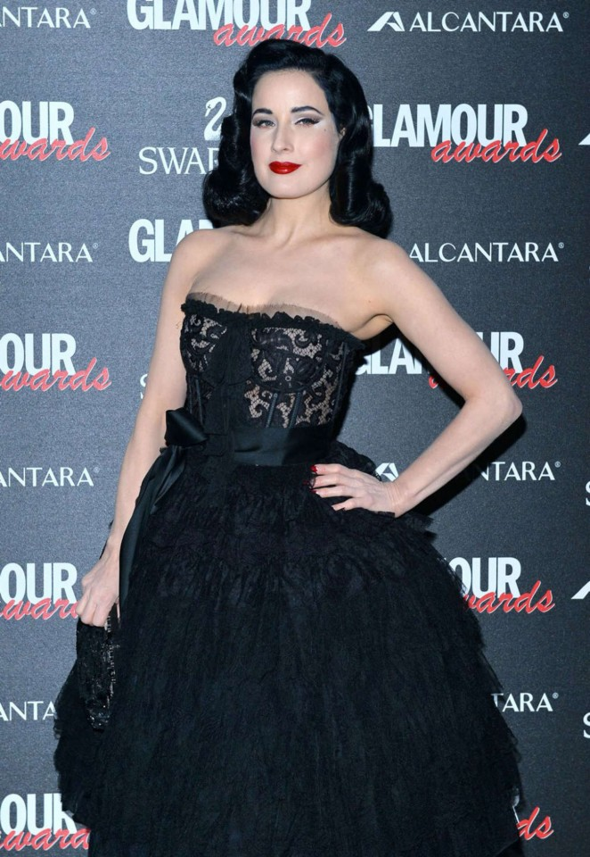 Dita Von Teese - Glamour Awards in Milan