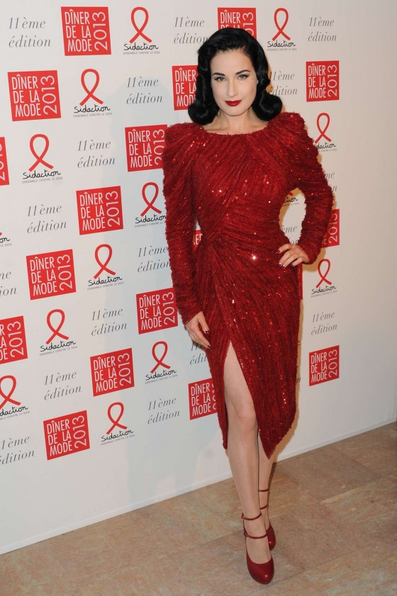 Dita Von Teese at Sidaction Gala Dinner in Paris