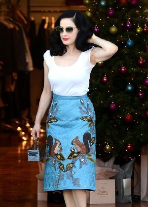 Dita Von Teese - Shopping at Vivienne Westwood in Los Angeles