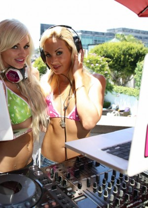 DJ Amie Rose at pool party in LA -05