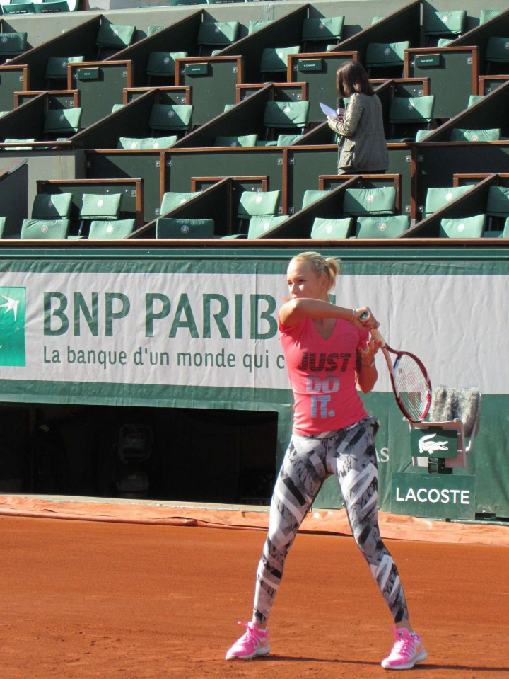 online shop on wholesale footwear Donna Vekic – French Open 2014 training session | GotCeleb