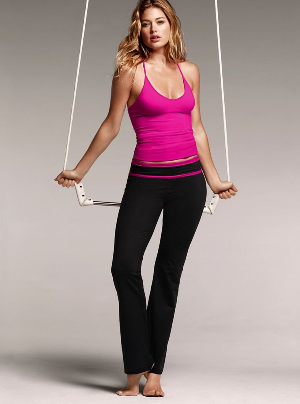 Doutzen Kroes Sweaty in Victoria's Secret VSX Workout Clothes