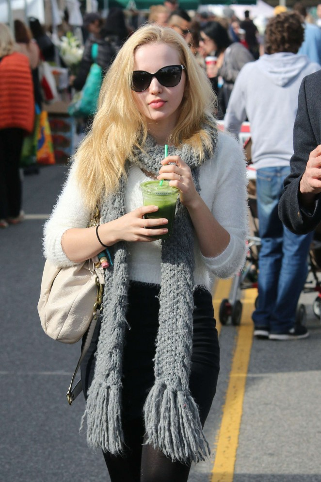 Dove Cameron - Shopping at Farmer's Market in LA