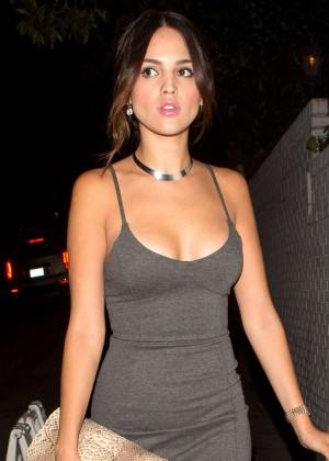 Eiza Gonzalez in a Tight Dress Leaving Chateau Marmont Hotel