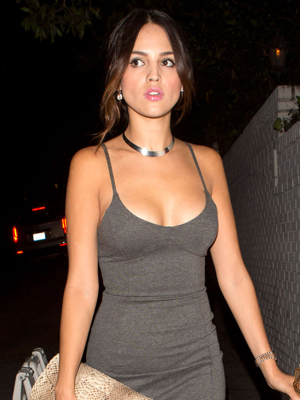 Eiza Gonzalez In A Tight Dress Leaving Chateau Marmont