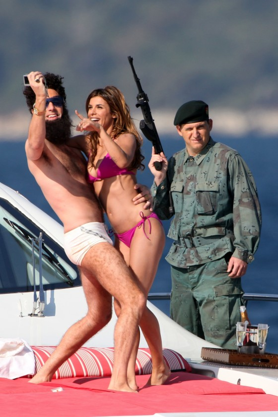 Elisabetta Canalis - In a bikini on a yacht With Sacha Baron Cohen-02