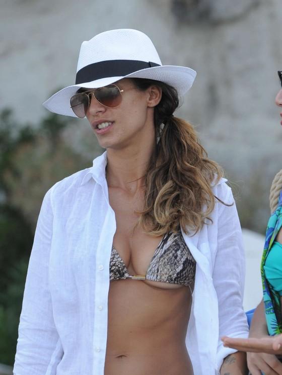 Elisabetta Canalis in Bikini Top -11