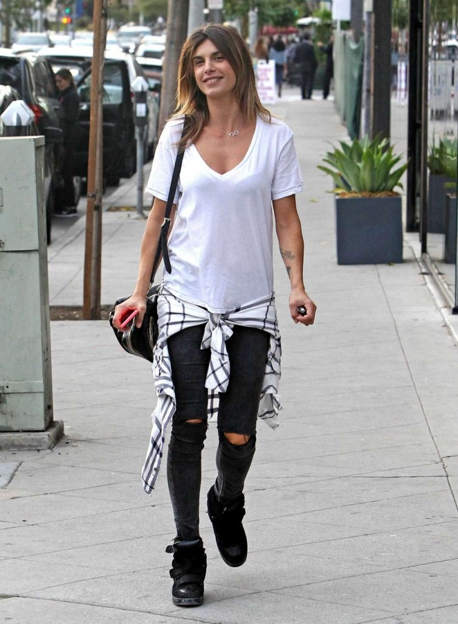 Elisabetta Canalis in Ripped jeans out in West Hollywood