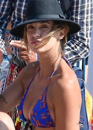 Elisabetta Canalis in Blue Bikini -08