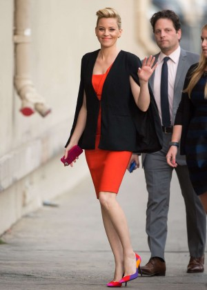 Elizabeth Banks in Red Dress at 'Jimmy Kimmel Live' in Los Angeles