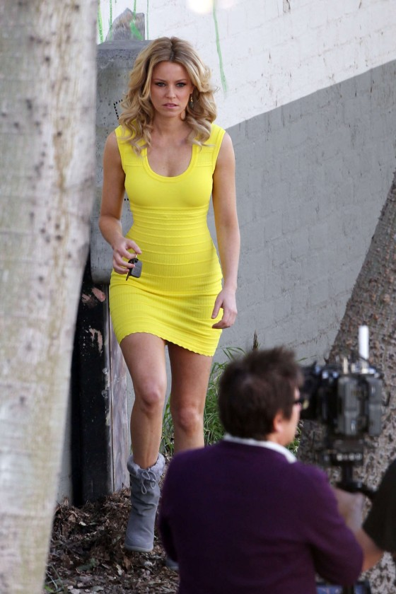 Elizabeth Banks - on the set of 'Walk Of Shame' in LA