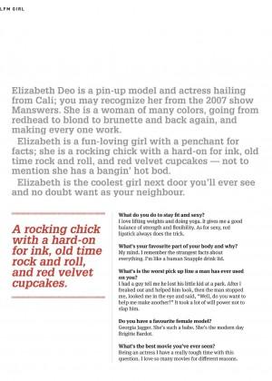 Elizabeth Deo: Lifestyle For Men Magazine 2014 -07